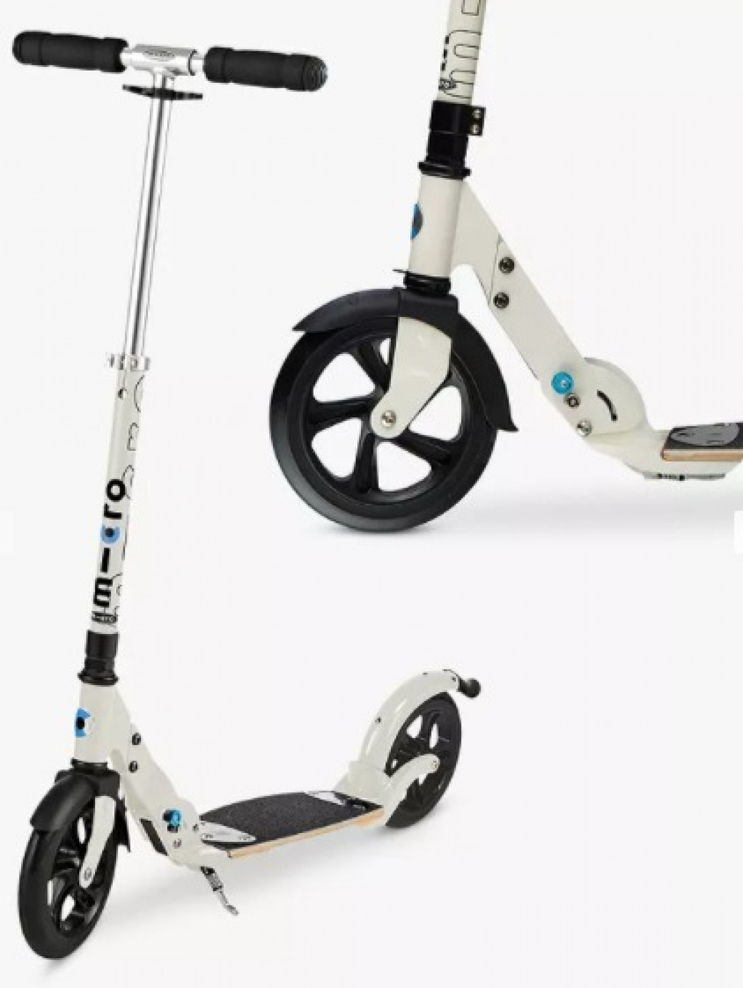 Micro Scooters Flex Deluxe Adult Scooter, Cream