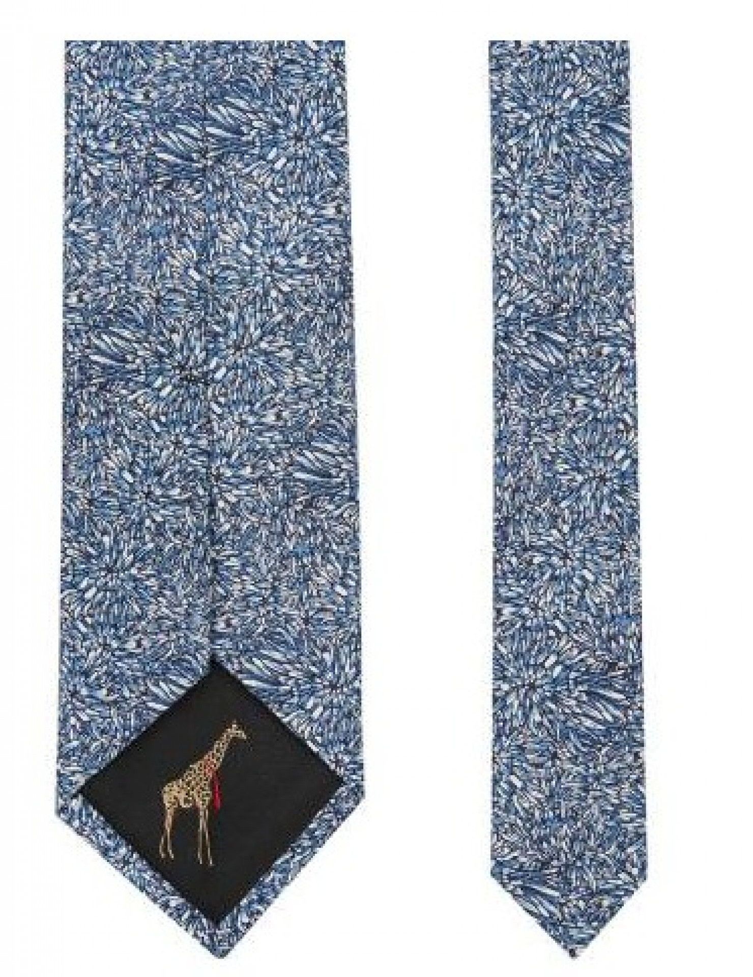 TED BAKER Blue Oxley Ditsy Floral 7cm Tie