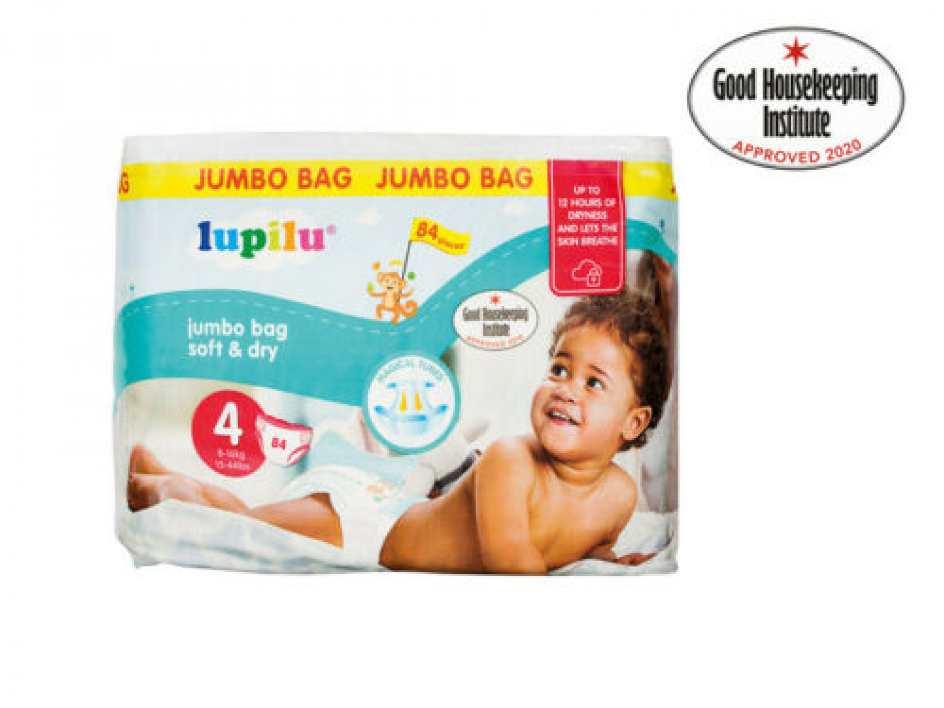 Soft & Dry Size 4 Maxi Nappies - Jumbo Bag (98 pack)