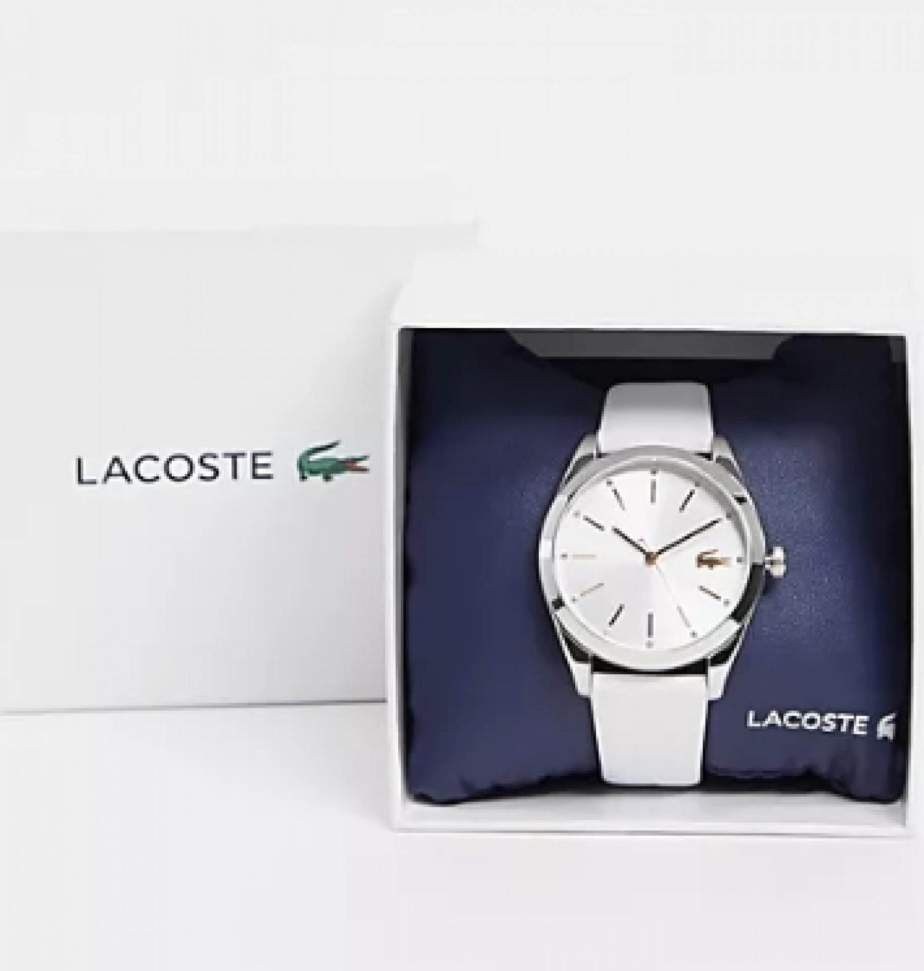 Lacoste parisienne watch with white strap