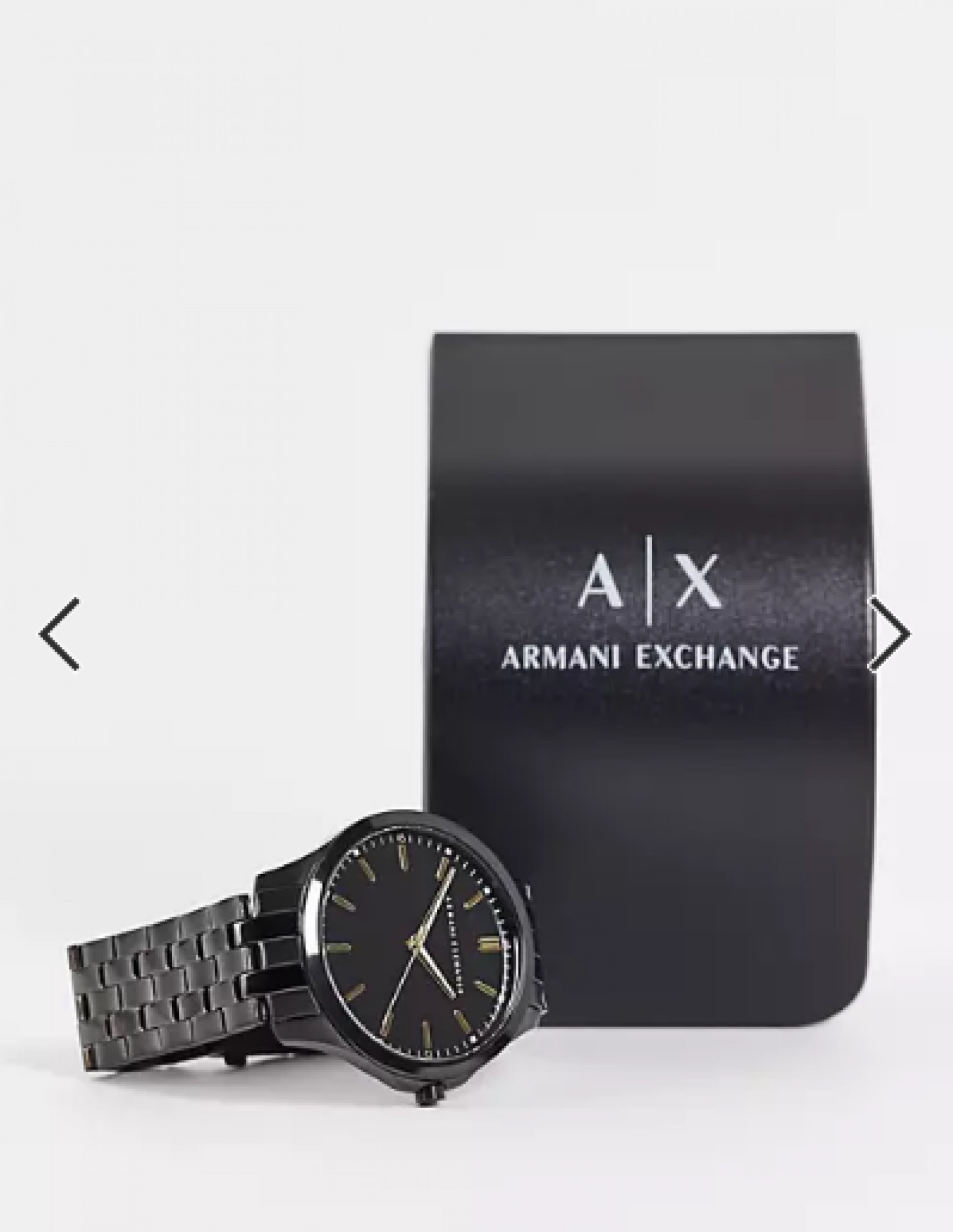 Armani Exchange AX2144 stainless steel watch in black