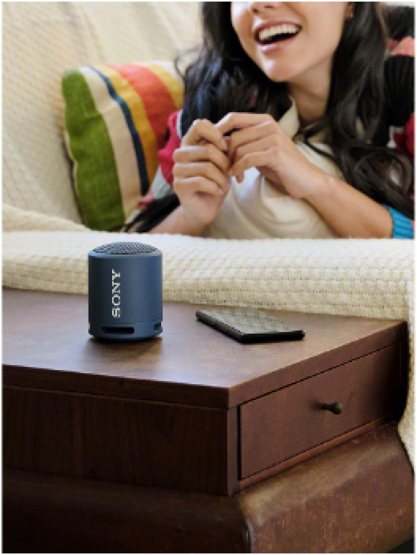 Sony SRS-XB13 Extra Bass Waterproof Bluetooth Portable Speaker, Taupe