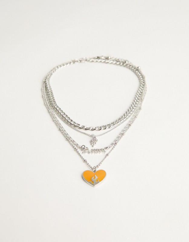 Set of 4 heart necklaces Ref 9236/248/808