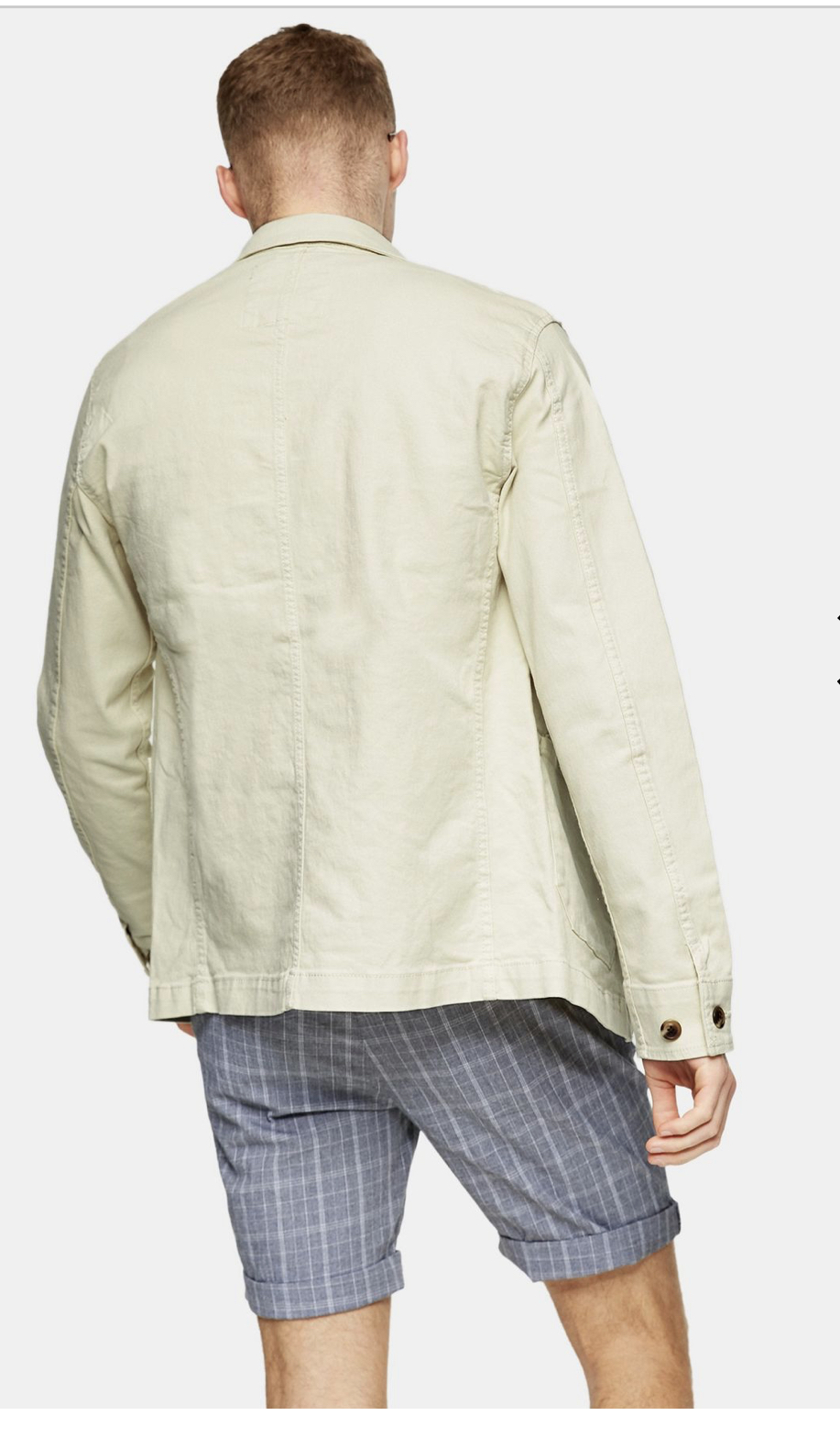 SELECTED HOMME White Lightweight Jacket