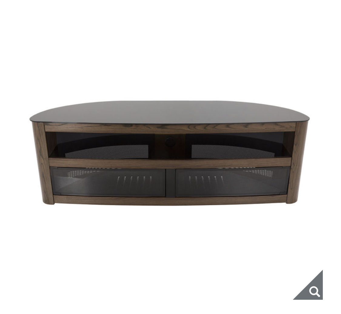 "AVF Burghley Affinity Plus Curved TV Stand for TVs up to 70"" in 3 Colours"