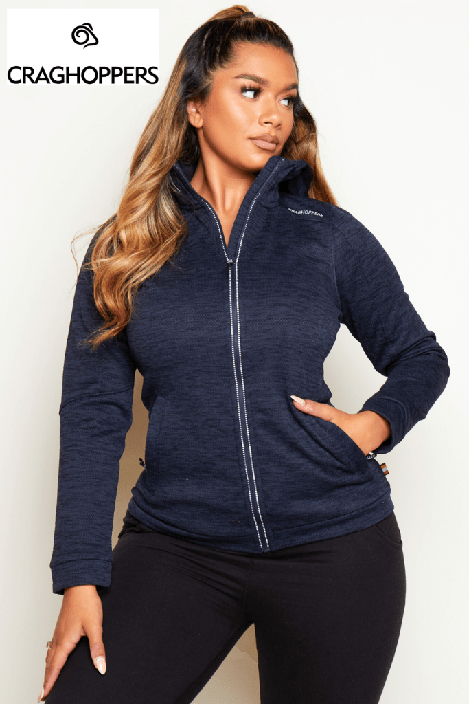 Craghoppers Navy Lightweight Fleece Hoodie