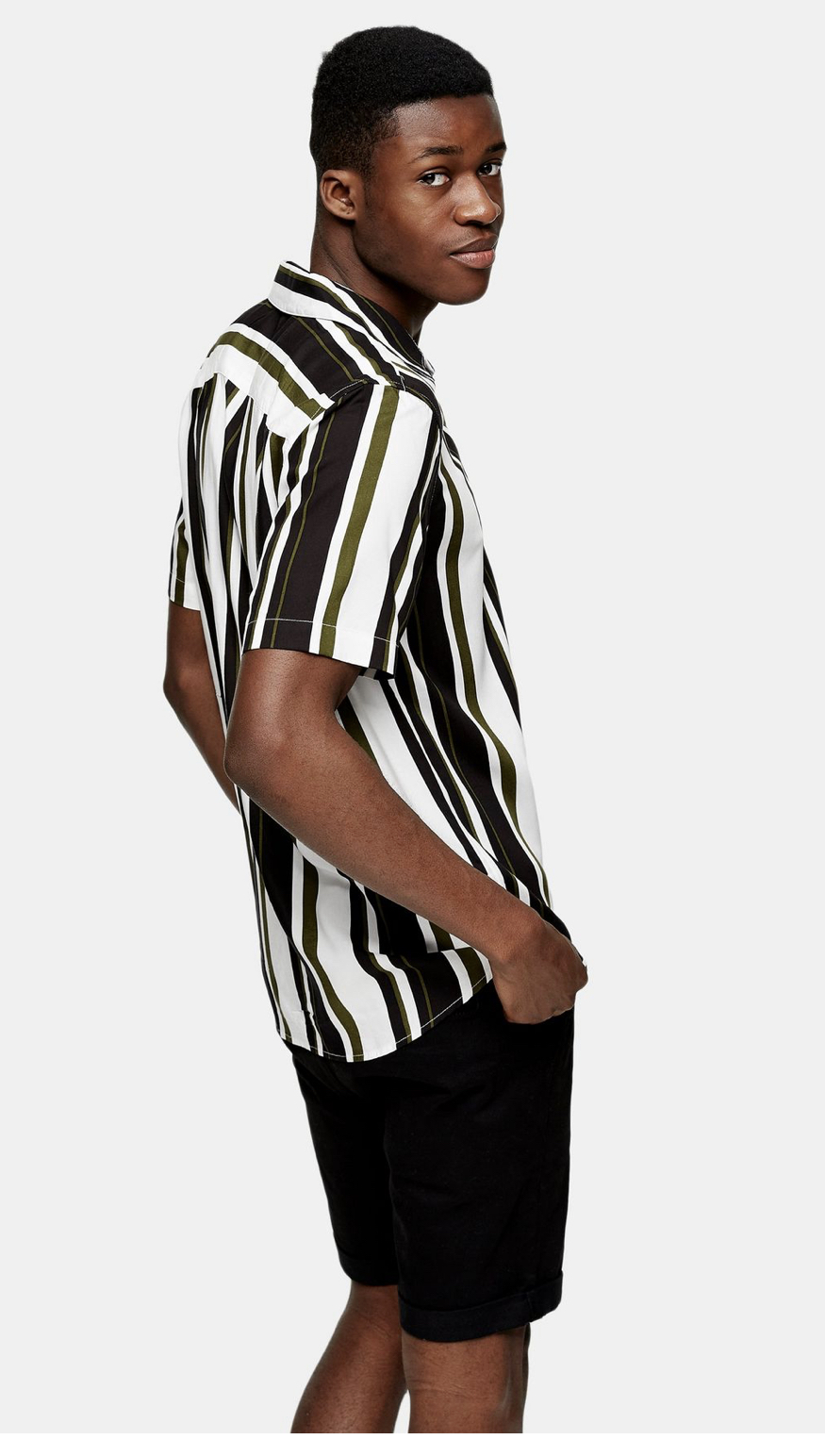 ONLY & SONS Green Stripe Shirt