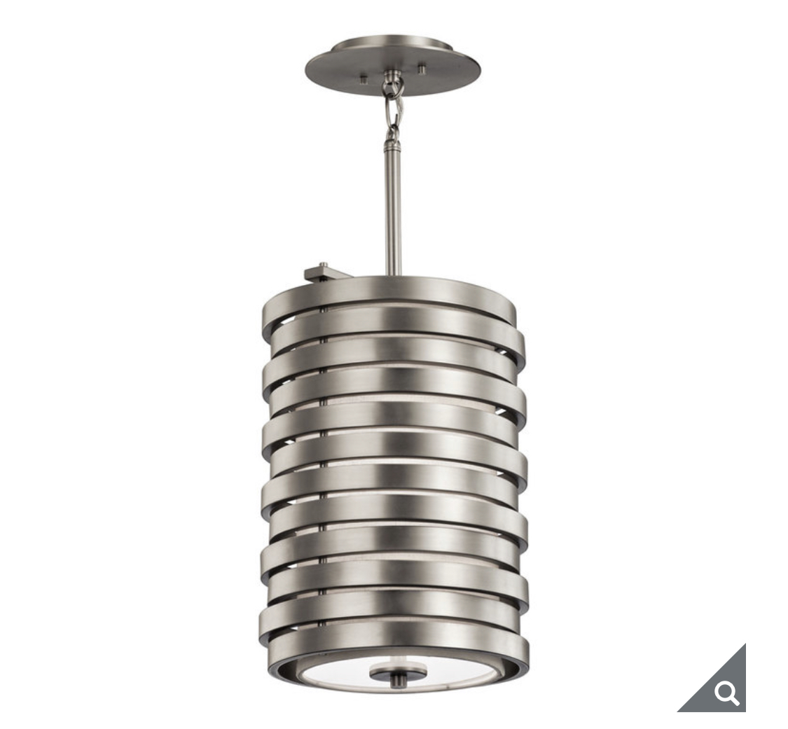 Kichler Roswell One Light Pendant Ceiling Light in Brushed Nickel