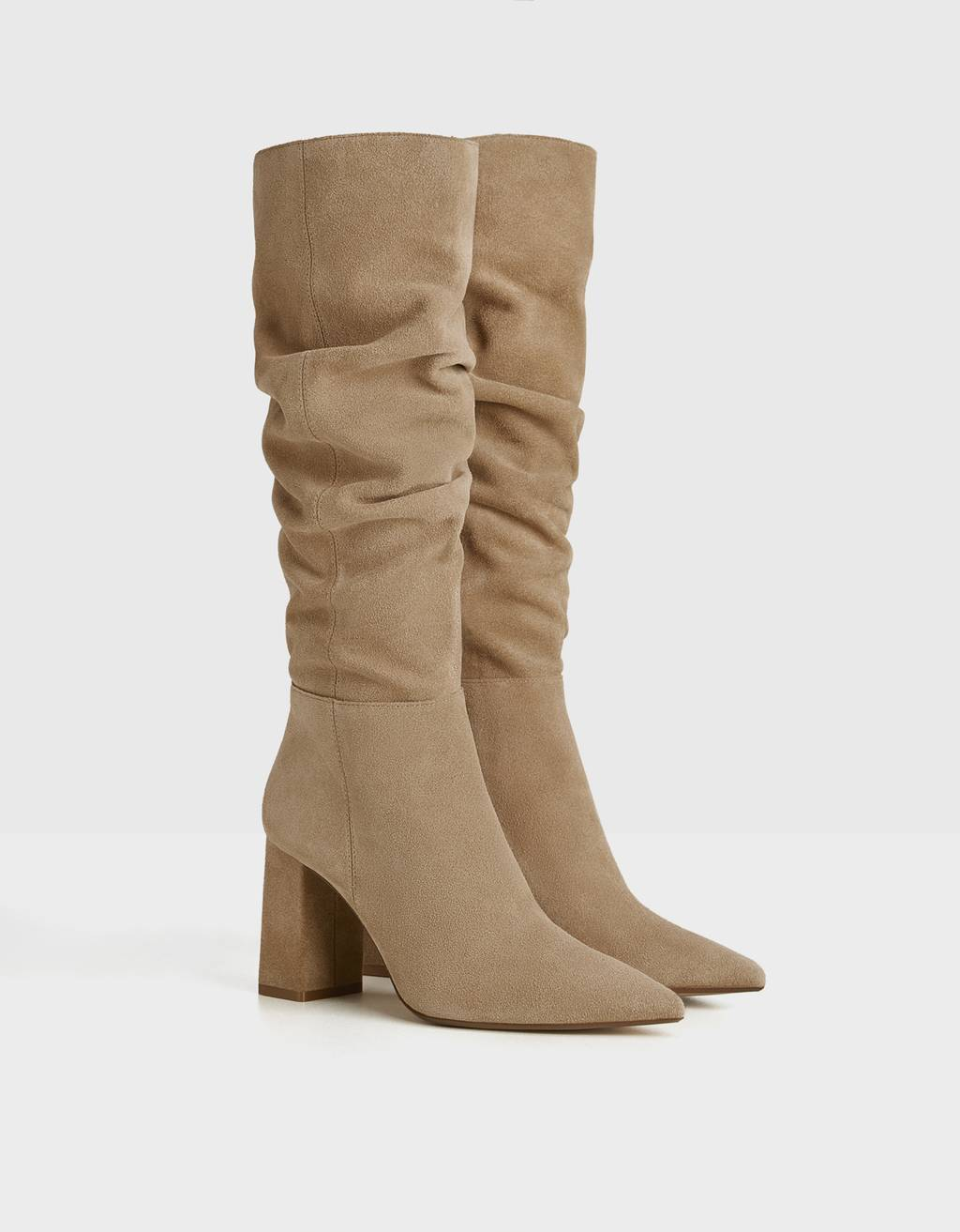 LEATHERJOIN LIFE LEATHER slouched boots