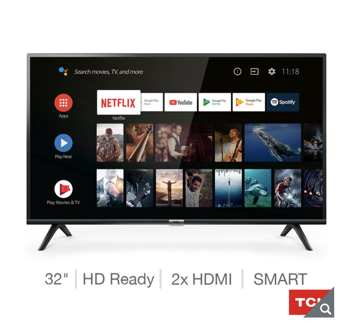 TCL 32ES568 32 Inch HD Ready Smart Android TV