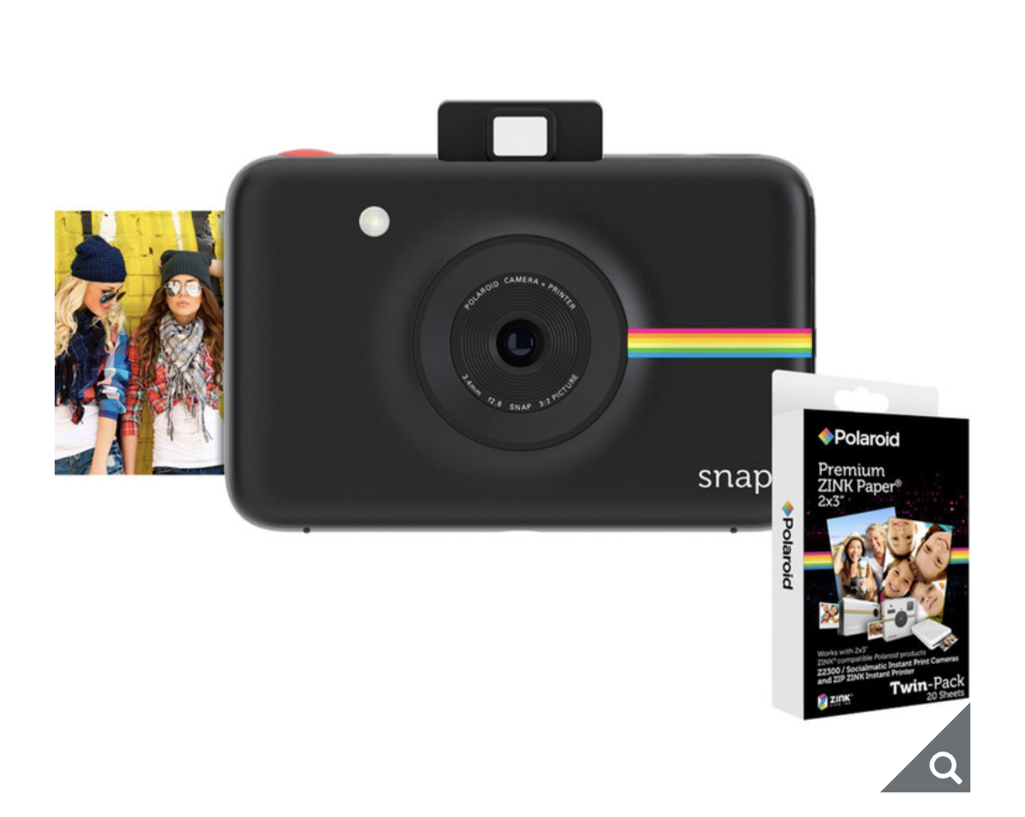 Polaroid Snap Instant Digital Camera with 20 Pack ZINK Zero Ink Paper in 3 Colours