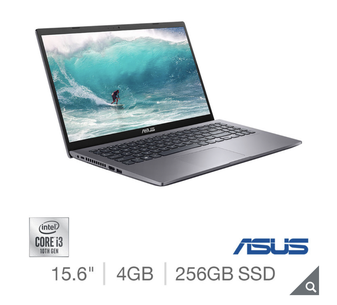 2020 ASUS Vivobook, Intel Core i3, 4GB RAM, 256GB SSD, 15.6 Inch Laptop