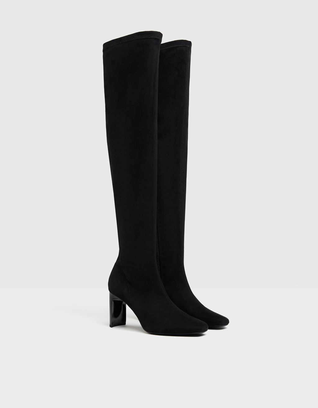Fitted over-the-knee high heel boots