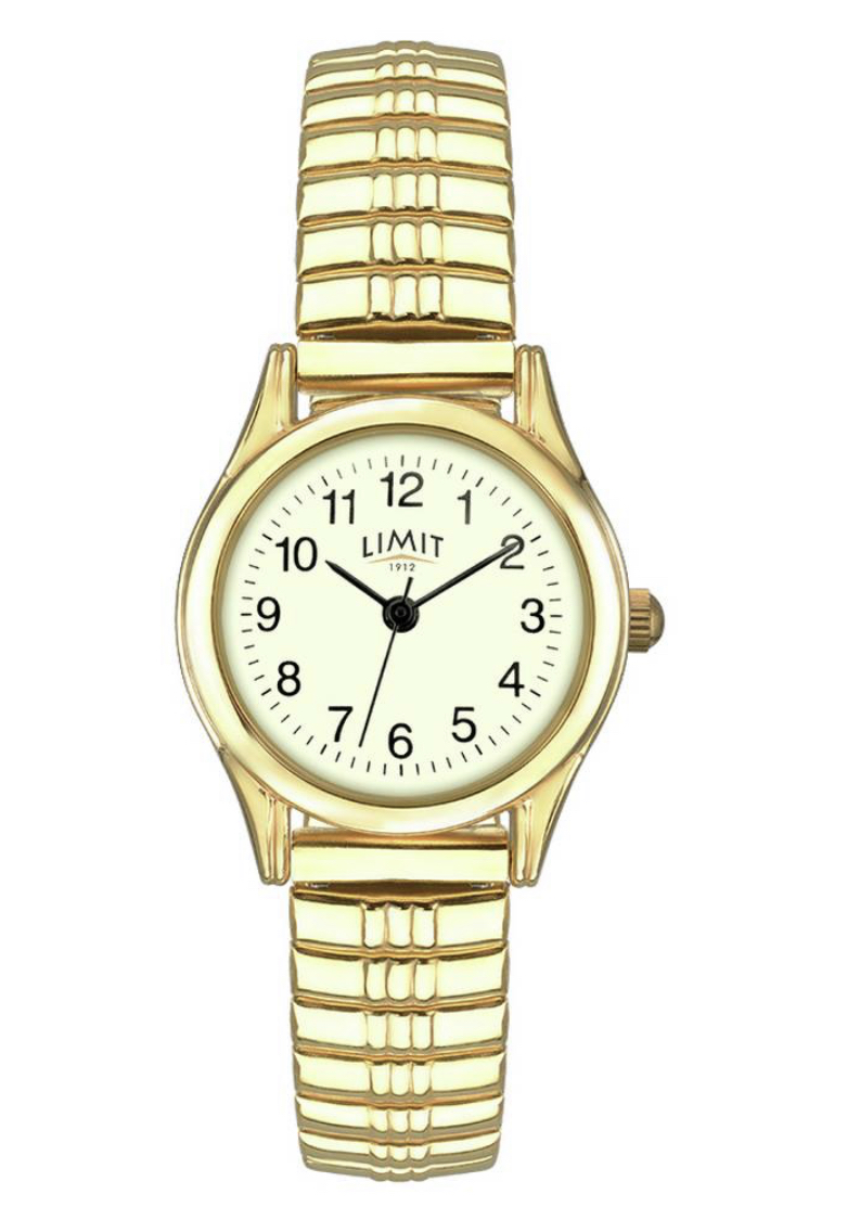 Limit Ladies Gold Plated Stainless Steel Expander Watch