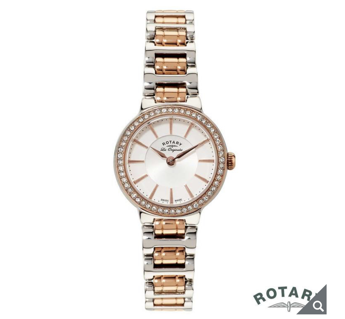 Rotary Lucerne Ladies Two Tone Rose Gold Swiss Watch