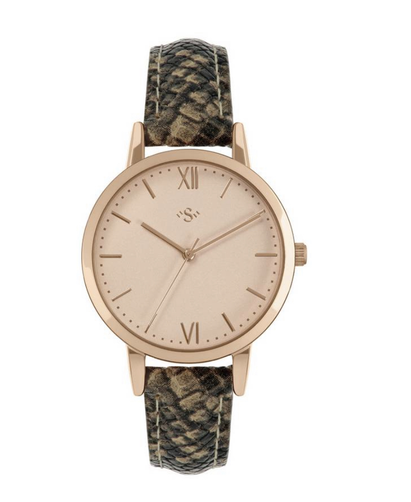 Spirit Ladies Brown Leather Strap Watch
