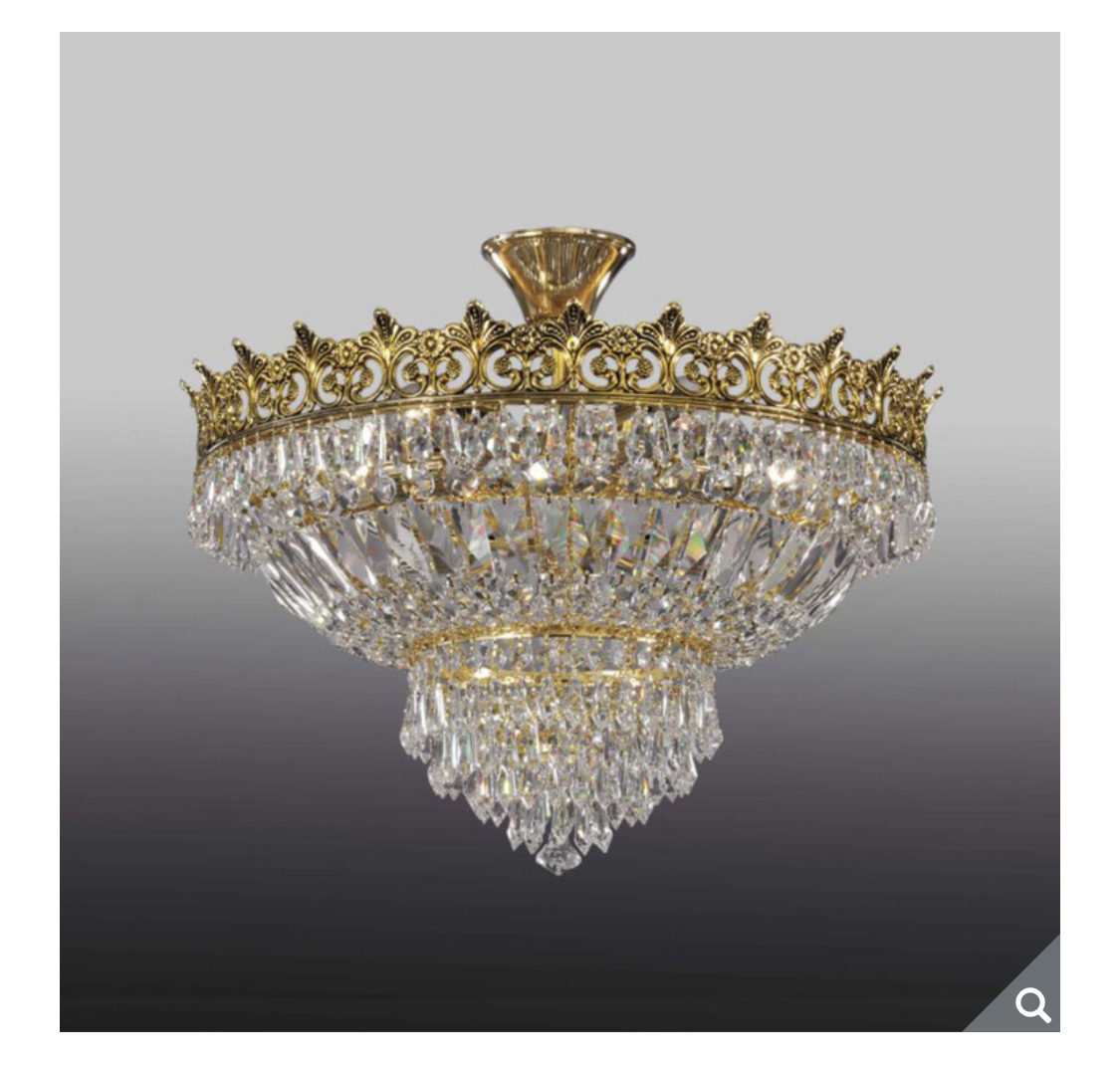 Swarovski Crystal Classic Chandelier Light in Gold