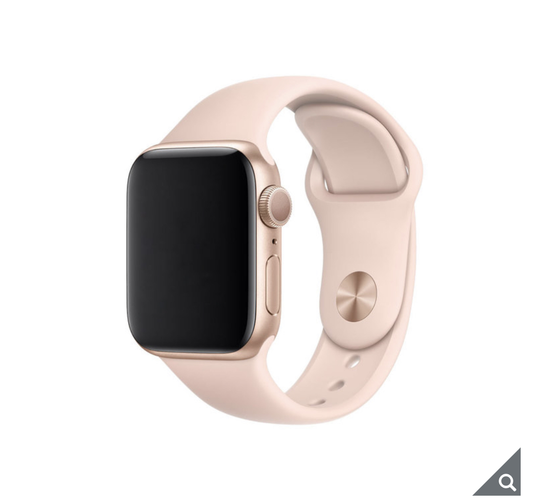 Apple Watch Series 5, MWV72B/A, GPS, 40mm Gold Aluminium Case with Pink Sand Sports Band