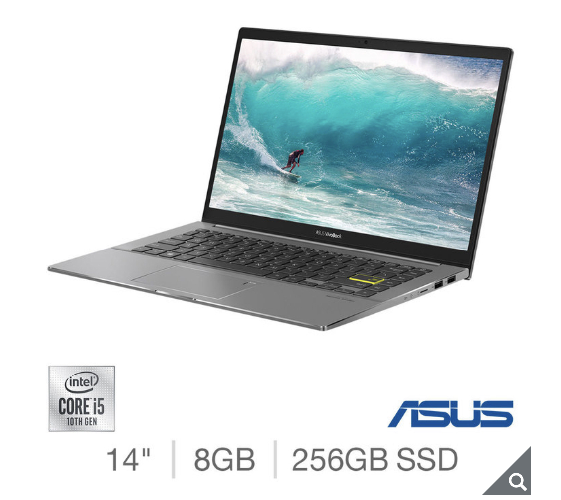 2020 ASUS Vivobook, Intel Core i5, 8GB RAM, 256GB SSD, 14 Inch Laptop
