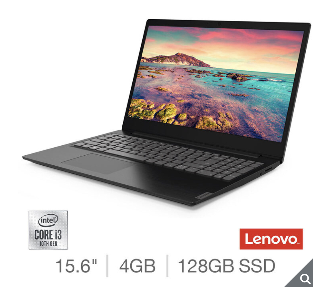 2018 Lenovo Ideapad S145, Intel Core i3, 4GB RAM, 128GB SSD, 15.6 Inch Laptop