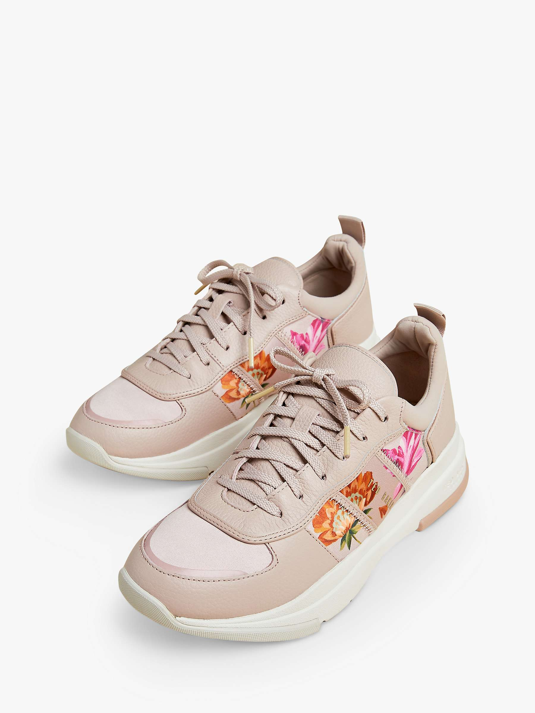 Ted Baker Keatonr Floral Leather Trainers, Pink