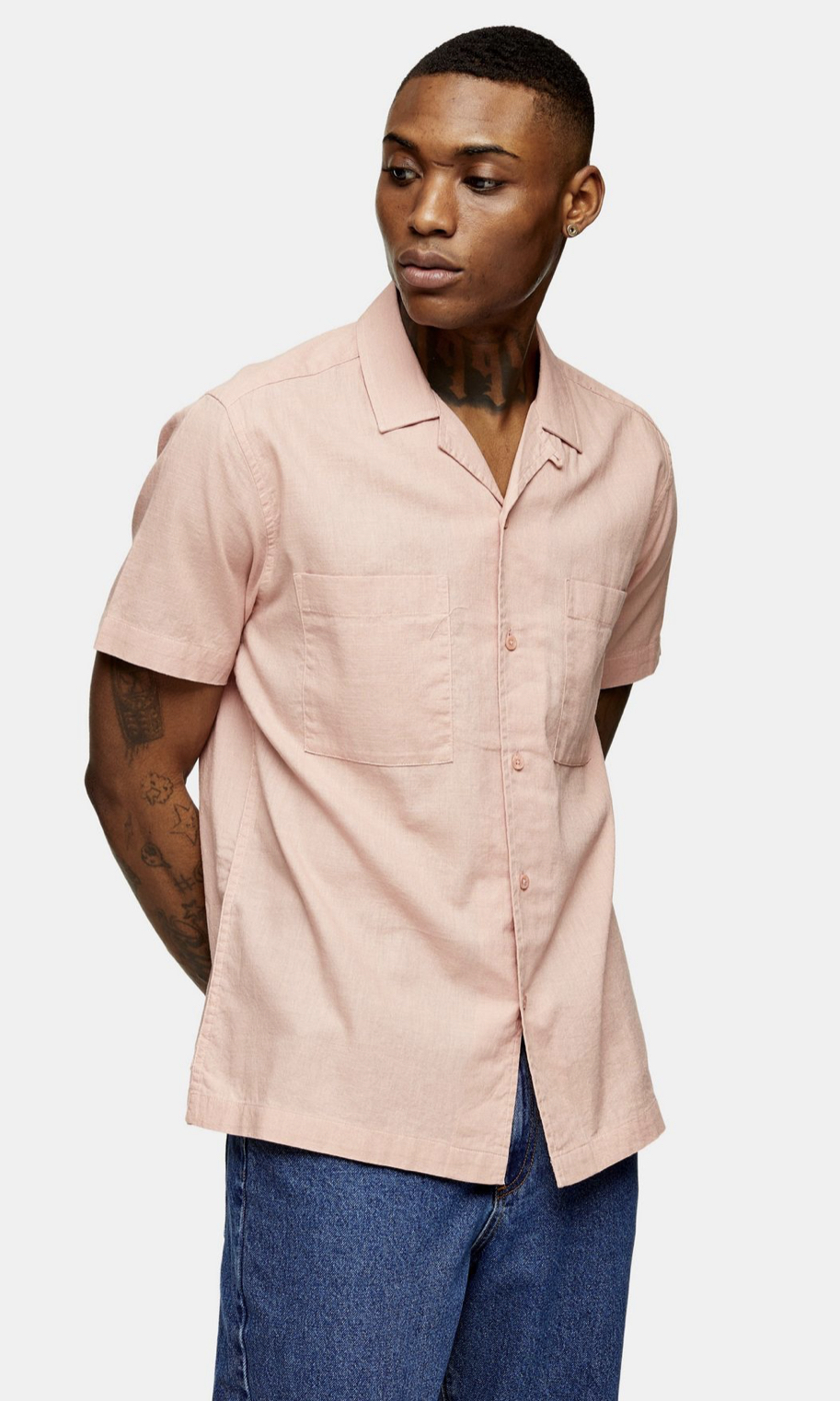 Washed Pink Revere Shirt