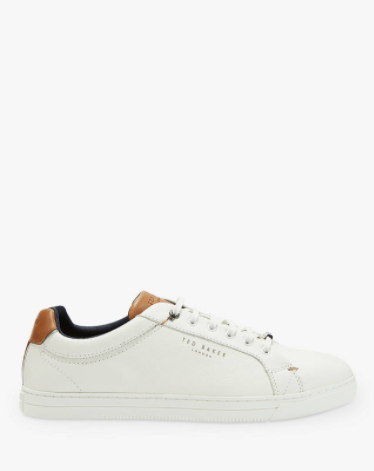 Ted Baker Thwally Leather Trainers, White