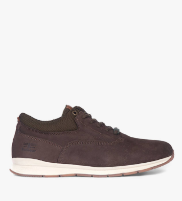 Barbour Langley Nubuck Trainers, Brown
