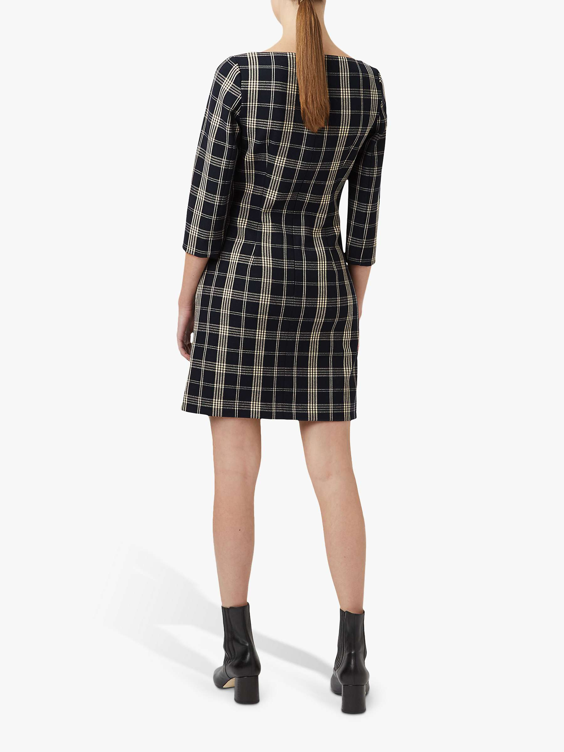 Hobbs Carolina Dress, Navy/Stone
