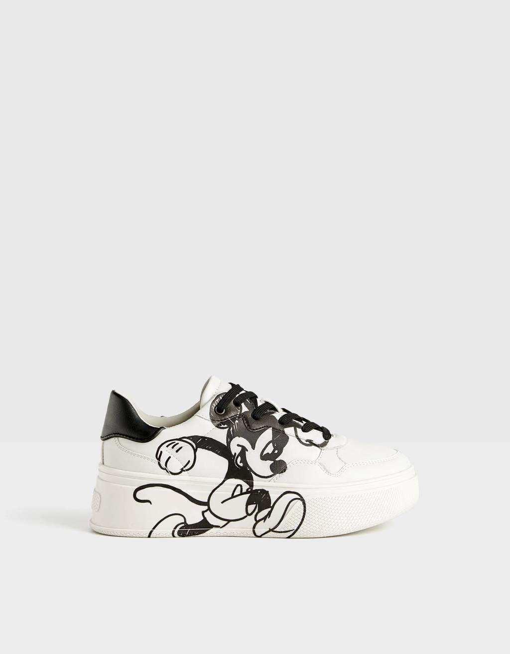 """""""Mickey gets arty"""" platform trainers"""