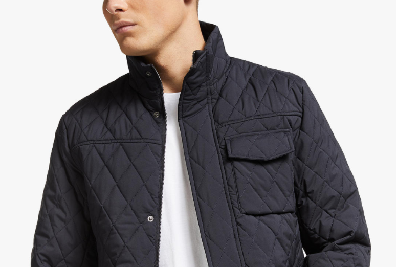 Scotch & Soda Quilted Jacket, Night Blue