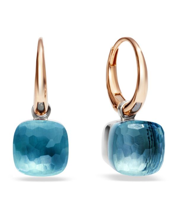 POMELLATO Nude Blue Topaz Rose Gold Earrings