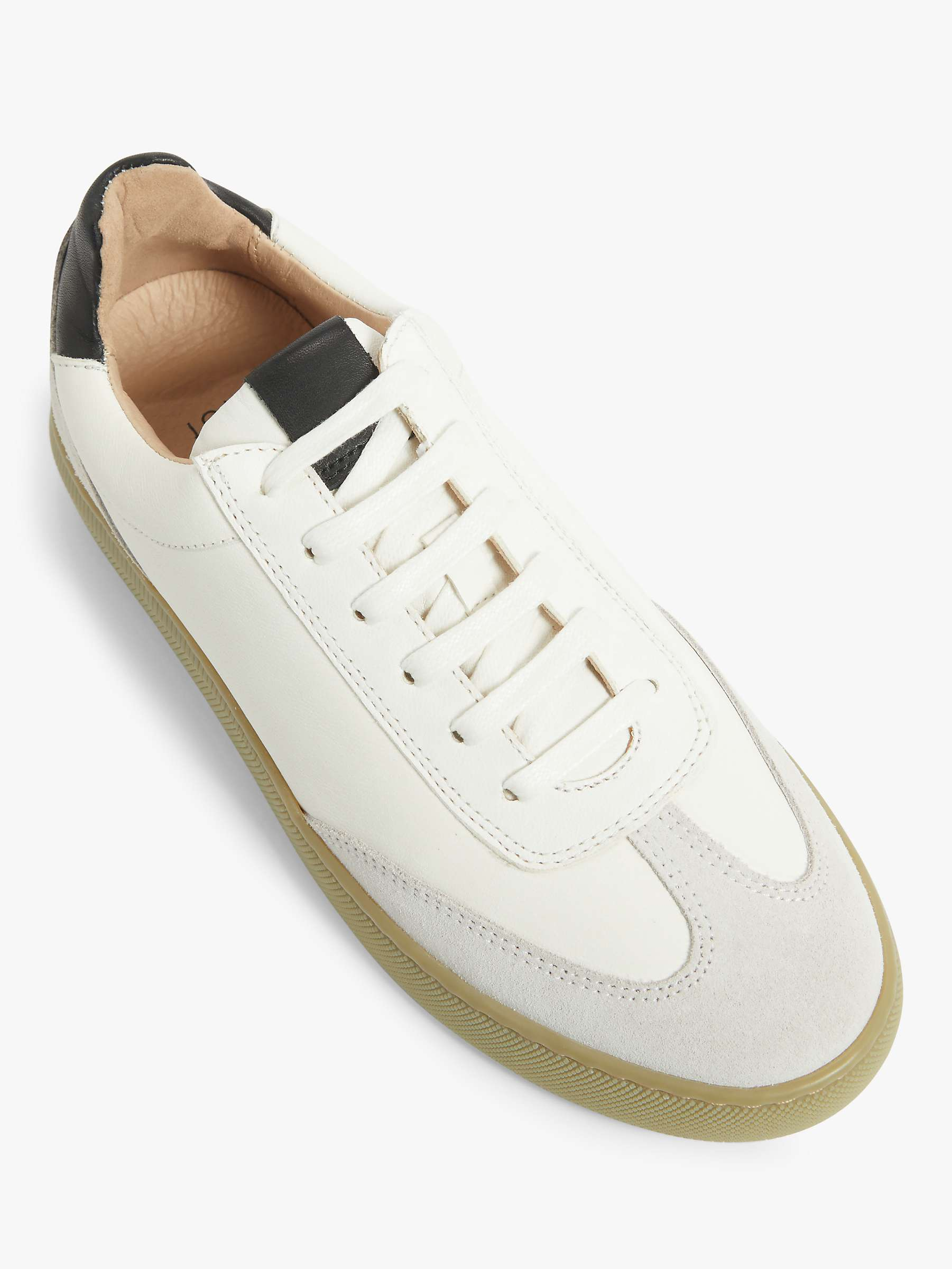 John Lewis & Partners Fern Leather Trainers, White