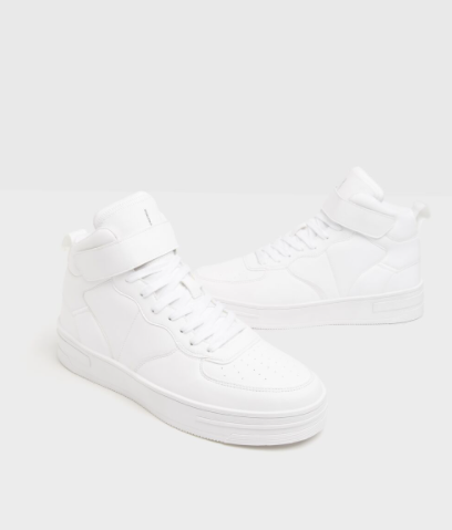 Men's high-top strap sneakers
