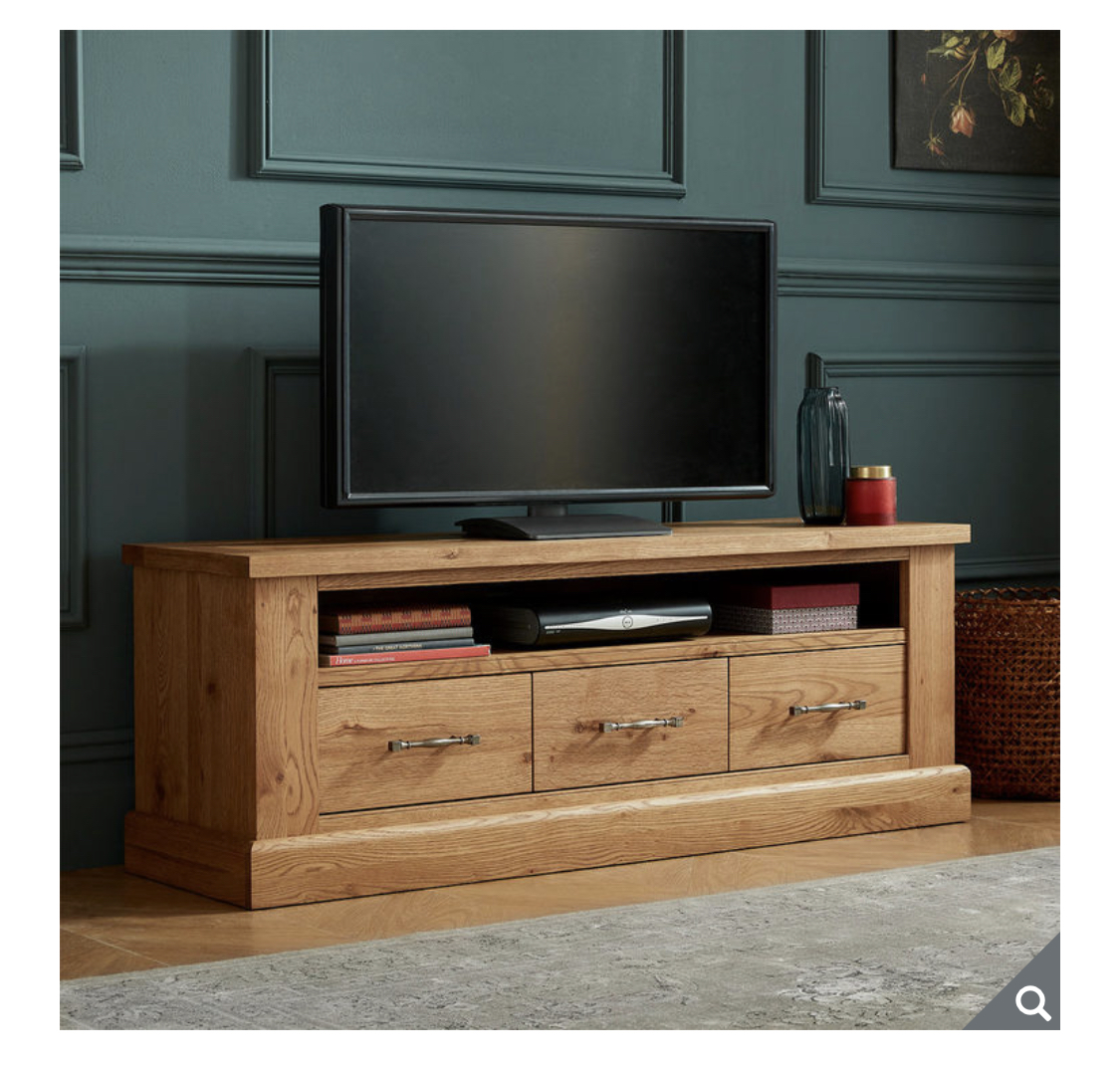 Bentley Designs Westbury Rustic Oak Entertainment Unit