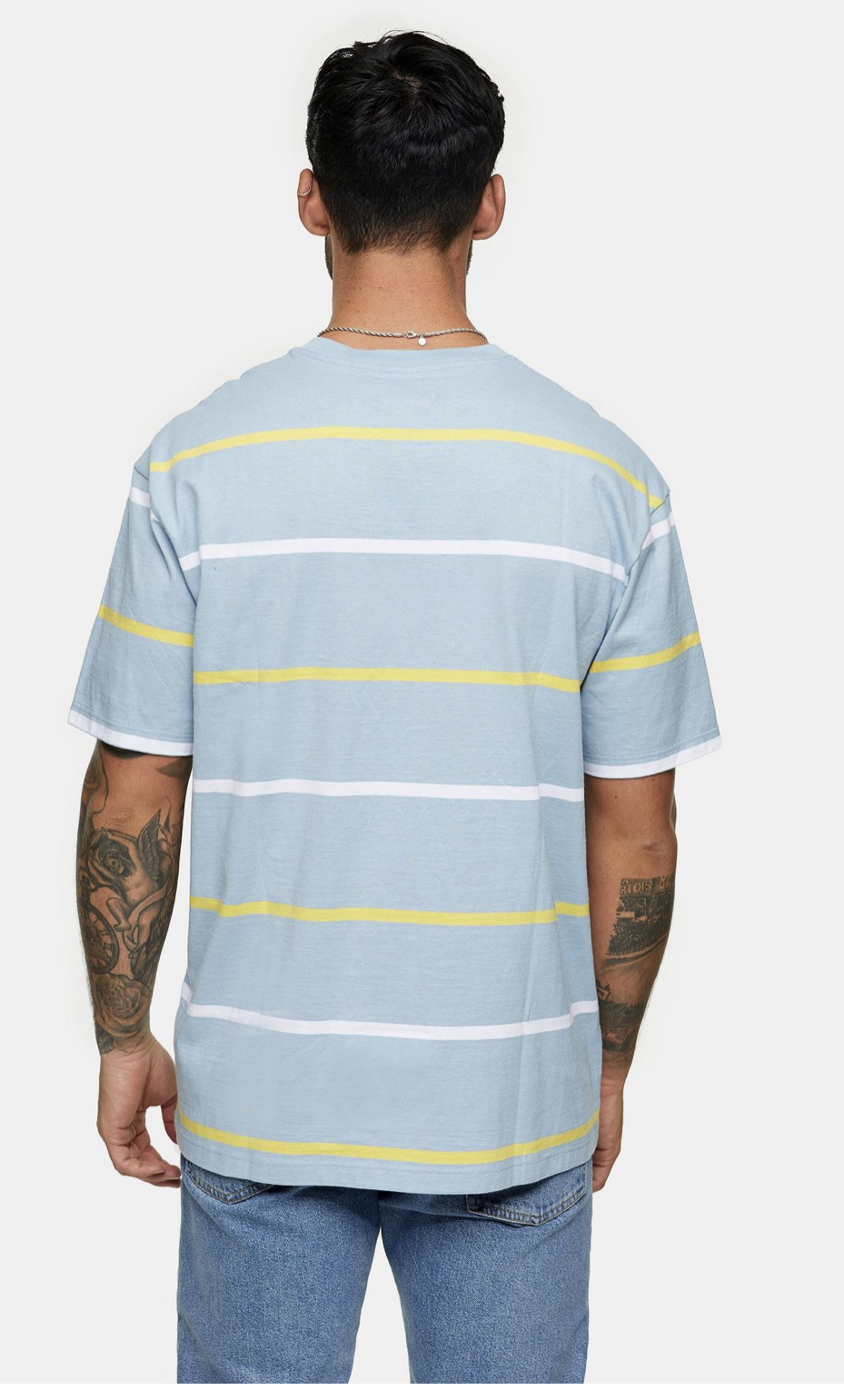 Blue, White And Yellow T-Shirt