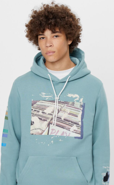 Hoodie with ripped detail